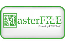 MasterFILE Premier, powered by EBSCOhost, green logo