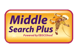 Middle Search Plus powered by EBSCOhost logo of a boy and his skateboard