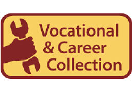 Vocational and Career Collection, powered by EBSCO, database logo of a hand holding a wrench